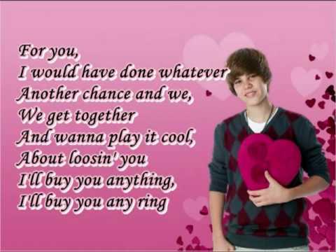 Baby - Justin Bieber Lyrics on the screen - YouTube