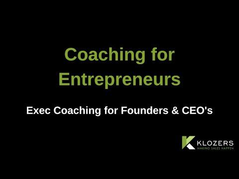 Coaching for Entrepreneurs