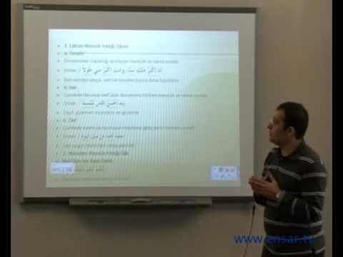 Arapça Dersleri - 03 - İsmi Tafdil 3
