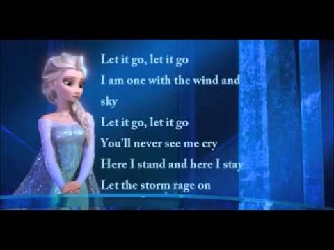 Idina Menzel - Let It Go Official Lyrics Video (Elsa) - YouTube