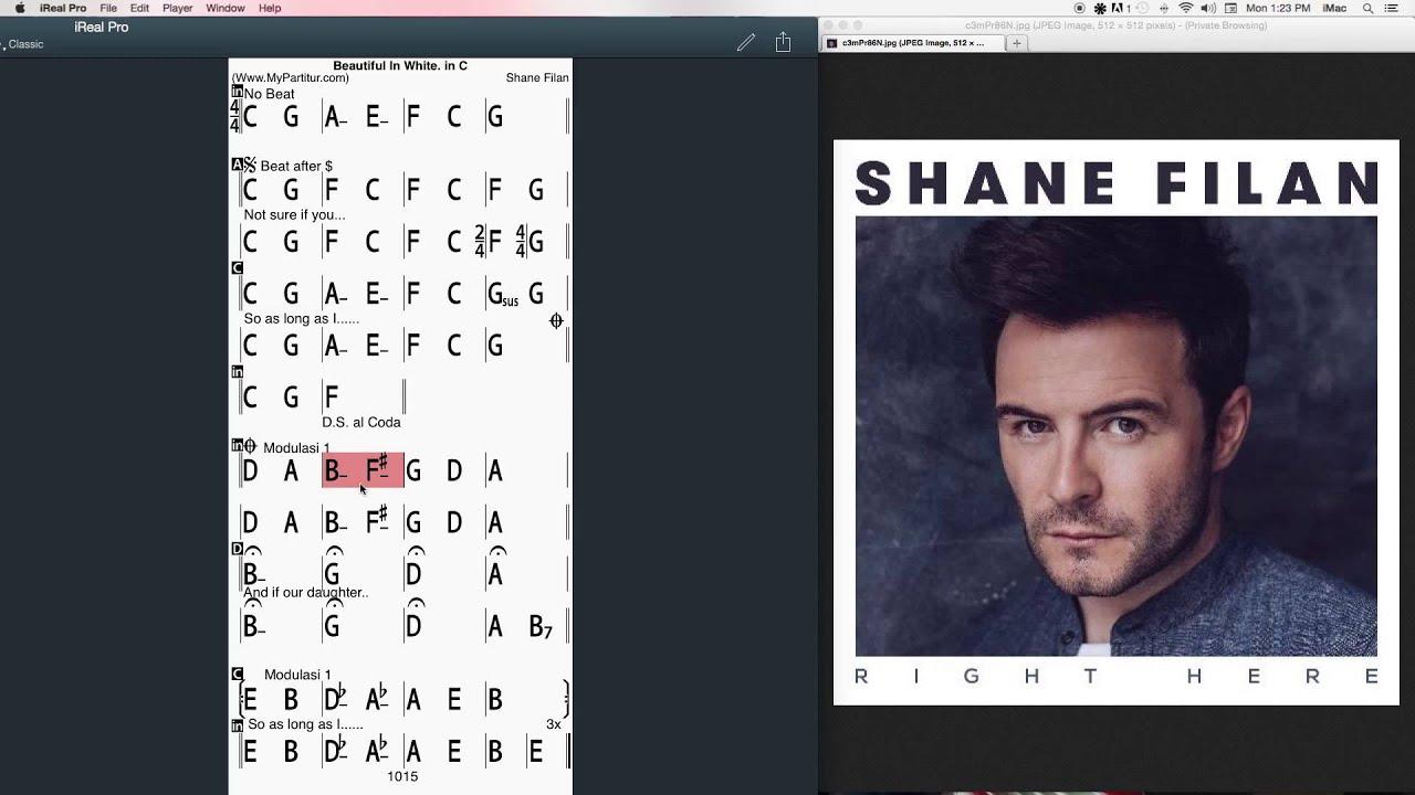 Beautiful In White Chords At Mypartitur Shane Filan Youtube