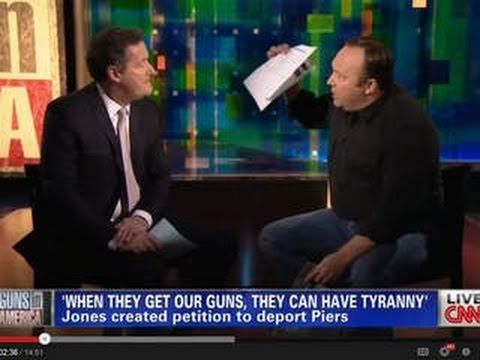 GOODBYE PIERS MORGAN. CNN SHOW CANCELLED. YOU'LL NEVER GET MY GUN.