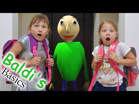 Baldi's in real life! Baldi is my teacher?! What did mom do? Baldi's Basics funny video