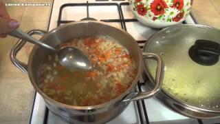 Рецепт быстрого приготовления супа с фрикадельками.