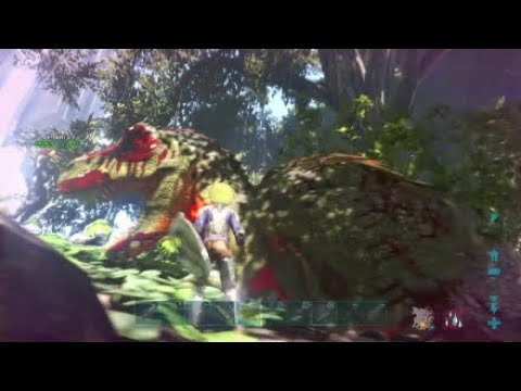 ARK PS4 official PVP Boss fight And test defense