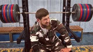 Chechen strongman Ramzan Kadyrov 'pauses' workout to laugh off US sanctions