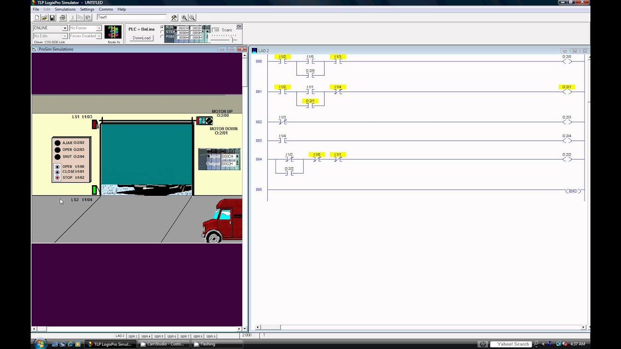 Programmable Logic Controller Simulation A Door Showing