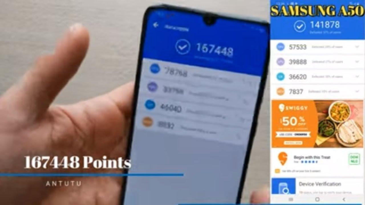 SAMSUNG GALAXY A70 Antutu Benchmark Points A70 vs A50 Antutu Test Comparison