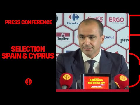 Press Conference Roberto Martinez - Selection Belgian Red Devils Spain & Cyprus
