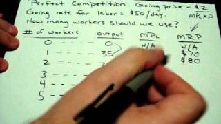 Marginal Revenue Product, Marginal Product of Labor, MRP, MPL Explanation