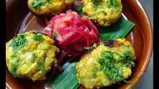 Yummy Recipe for Tandoori Mushrooms filled with Cheese and Paneer at Chai Naasto Restaurant, London.