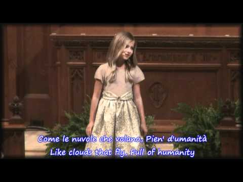 Nella Fantaisa By Jackie Evancho At Houston Concert With Lyrics
