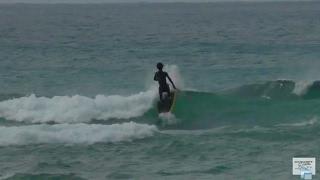 SUP スタンドアップパドル 北谷サンセットビーチ 沖縄風景