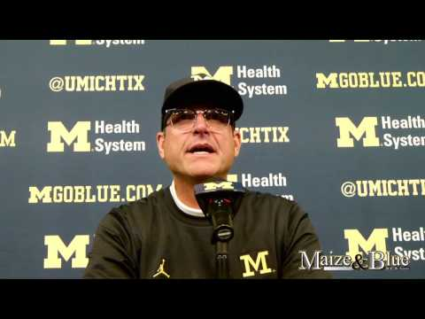 Jim Harbaugh post-Illinois game press conference