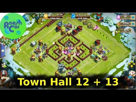Castle Clash | Base Design Town Hall 12,13 ಠ Schloss Konflikt [Deutsch][German]