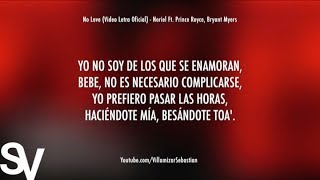 No Love Letra Oficial Noriel Ft. Prince Royce, Bryant Myers.mp3