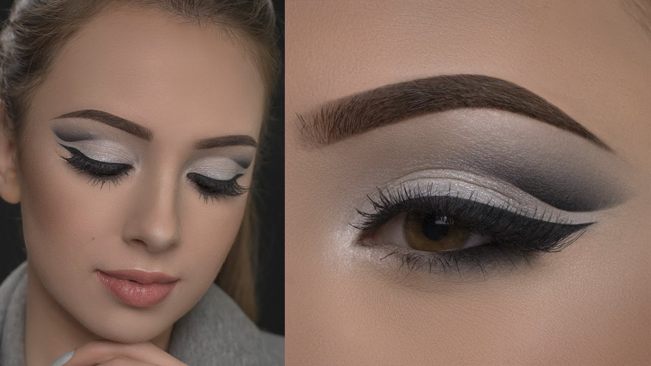 Affordable Silver Cut Crease Makeup Tutorial - YouTube