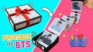 DIY KPOP ☆ Como HACER un PHOTOBOX de BTS con FOTOS POLAROID ¡Super fácil! l Fabbi Lee