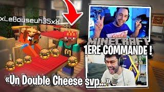 Énorme commande de Lebouseuh dans mon McDonald's sur Minecraft !
