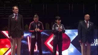 【グランドファイナル2016】女子シングルス準決勝 平野美宇vsハン イン(ドイツ)