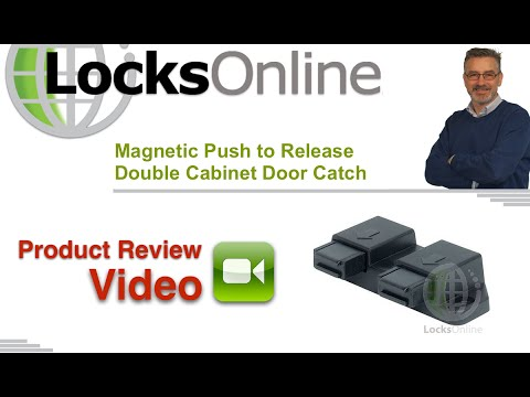 Magnetic Push to Release Double Cabinet Door Catch   LocksOnline Product Reviews