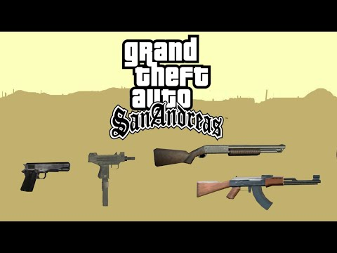 Grand Theft Auto: San Andreas - All Weapons & Items