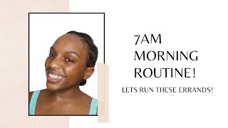 Black Girl 7am Morning Skincare Routine   Lets Wake Up And Meet These Goals, But First Skincare!