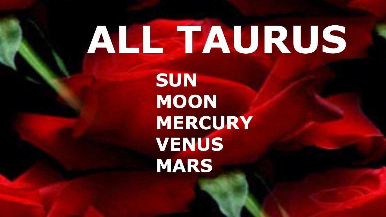 All About Taurus >> ALL ABOUT TAURUS: SUN, MOON, MERCURY, VENUS, MARS - YouTube