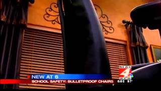 Bulletproof Chairs Marketed To Schools, Offices