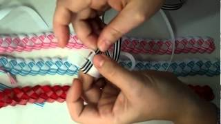 This video tutorial will teach you how to Braid/Weave ribbon that y...