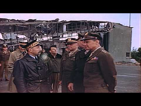 General Vandenberg and other official of the United States Army meet Russian offi...HD Stock Footage