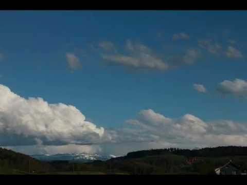 Foehn storm over the alps from Berne on April 29, 2012, time laps