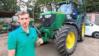 Traktor John Deere M6195 i kombajn FENDT z większą mocą