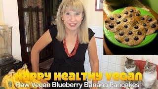 Raw Vegan Banana Blueberry Pancakes [gluten Free]