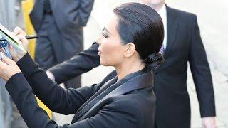 Kim Kardashian Signs Autographs For Fans Outside Jimmy Kimmel Live, Part 2