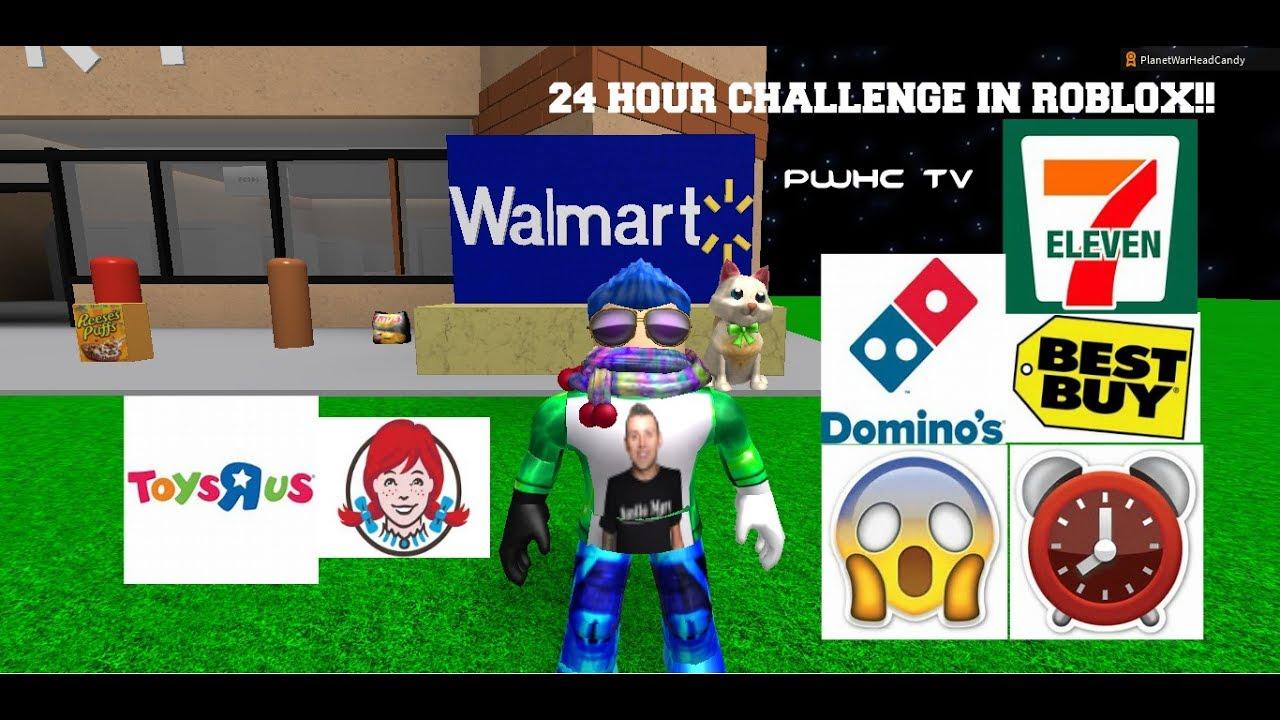 24 Hour Challenge Roblox In Walmart Toys R Us Best Buy
