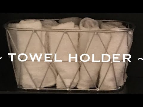 DIY | BATHROOM TOWEL HOLDER