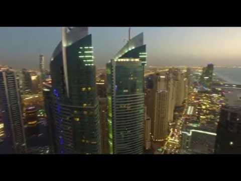Fly high above Dubai - Dubai Marina & Jumairah Beach Residence & Dubai EYE ! 4K UHD Phantom 3