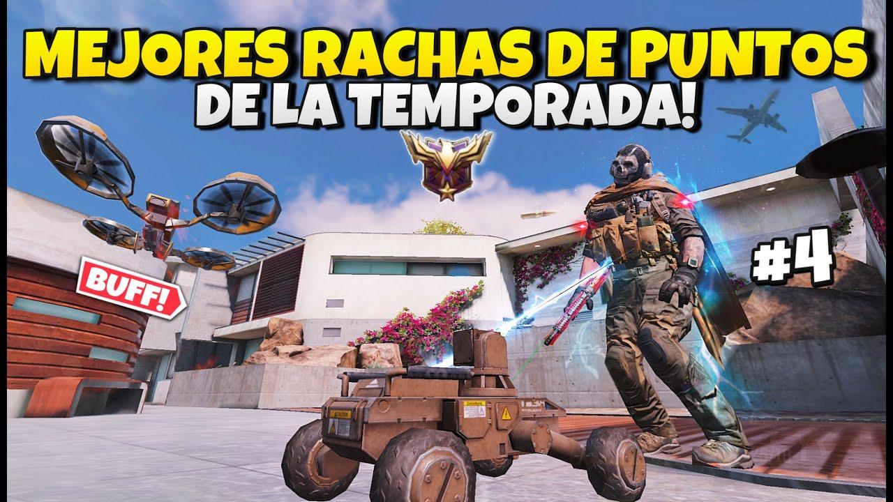 TOP 5 MEJORES RACHAS DE PUNTOS DE LA TEMPORADA Y RANKED COD MOBILE Trucos y Tips