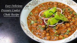 Simple Chole Masala Recipe/Pressure Cooker Chole- How to make Chole Masala/ Easy Chana Masala Recipe