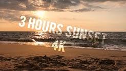 Meeresrauschen mit Sonnenuntergang in 4K - zum einschlafen für Baby und zum entspannen