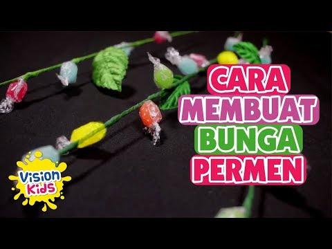CARA MEMBUAT HIASAN BUNGA DARI PERMEN - DIY #3