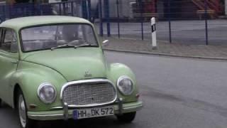 grüner DKW 3=6 in Hamburg Motor Sound und rumfahren