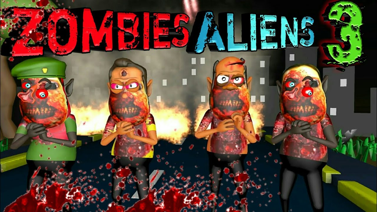 Zombies and Aliens Horror Story Part 3 | Animated movies | som tv | UFO scary story