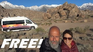 Exploring the Alabama Hills and Sierra Mountains. Full Time Van Life
