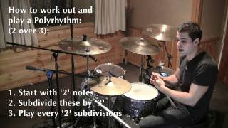 Polyrhythms Explained PART 1 - (2 against 3) Drum Lesson by Troy Wright