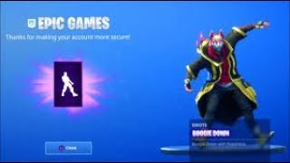 "FREE THE NEW DANSE ""BOOGIE DOWN"" on FORTNITE BATTLE ROYALE!!"