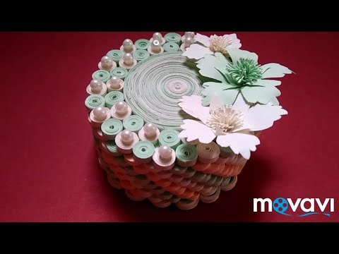 Ring box with beautiful quilling work by unique art ideas