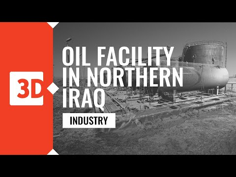 Oil facility in northerm Iraq - laser scanning