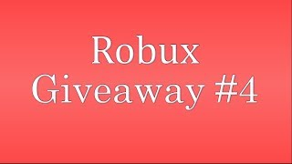 Roblox Robux giveaway #4